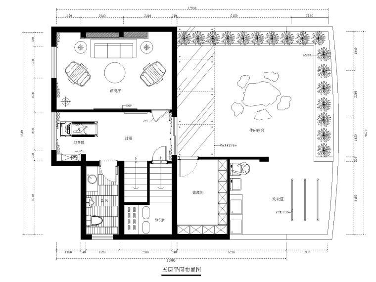 [福州]品川-长乐三居室别墅样板房室内装修CAD施工图+效果图+实景拍摄