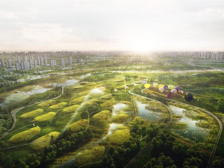西安粼岛泾河总体规划