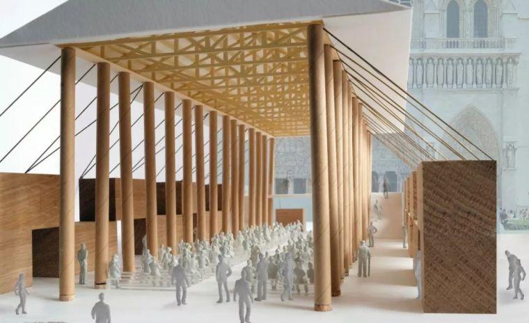 设计|WHY坂茂?巴黎圣母院临时展馆设计方案公布