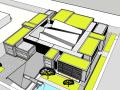 现代风格展览馆建筑模型设计