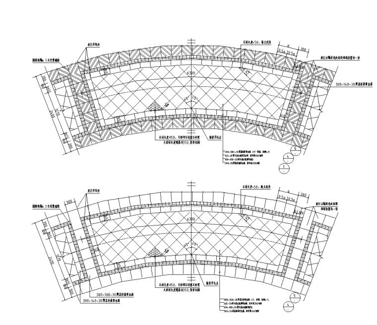 景观细部施工|弧线系列高端标准园路铺装