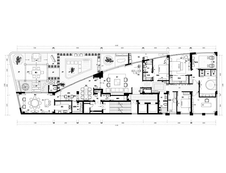 [福州]品川-福安水岸名居样板房室内装修CAD施工图+效果图