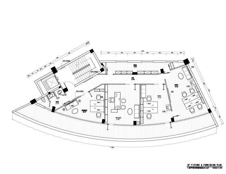 [福州]品川-长乐中茂地产销售大厅&酒店大堂室内装修施工图纸