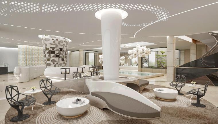 [上海]HWCD-保利天琴宇售楼处方案汇报+效果图