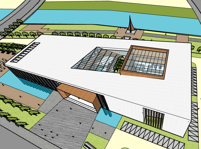 [辽宁]大连长兴岛城市规划展示馆建筑模型设计