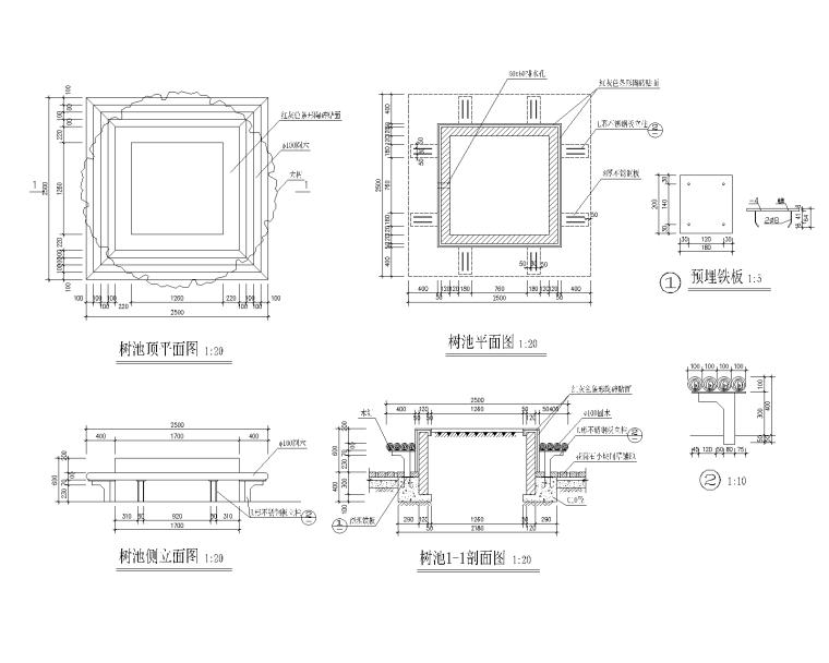 90套园凳树池CAD施工图(1-30)