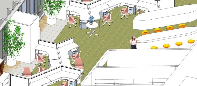 3套室内工装整体模型设计