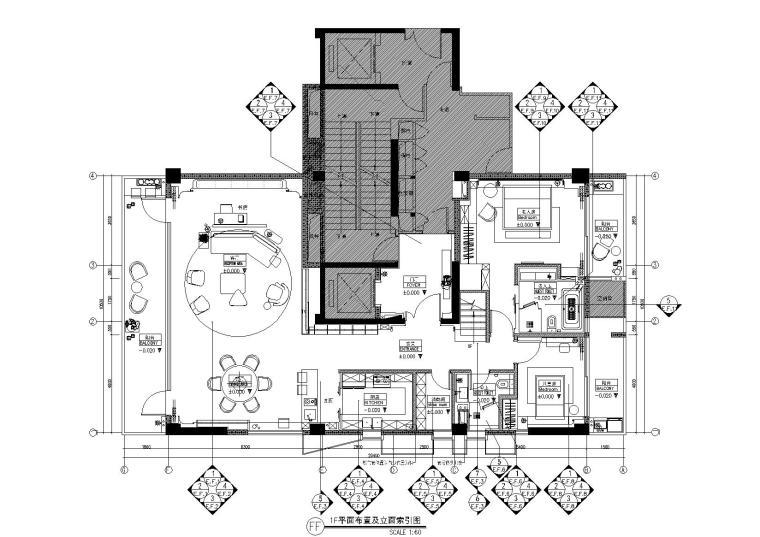 [宁波]琚宾HSD-宁波钓鱼台A户型样板间丨草图模型+CAD施工图+官方摄影