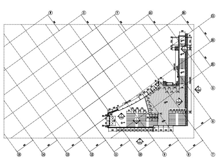 商业综合体裙房工程及地下室工程幕墙竣工图