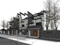 徽派风格别墅建筑模型设计