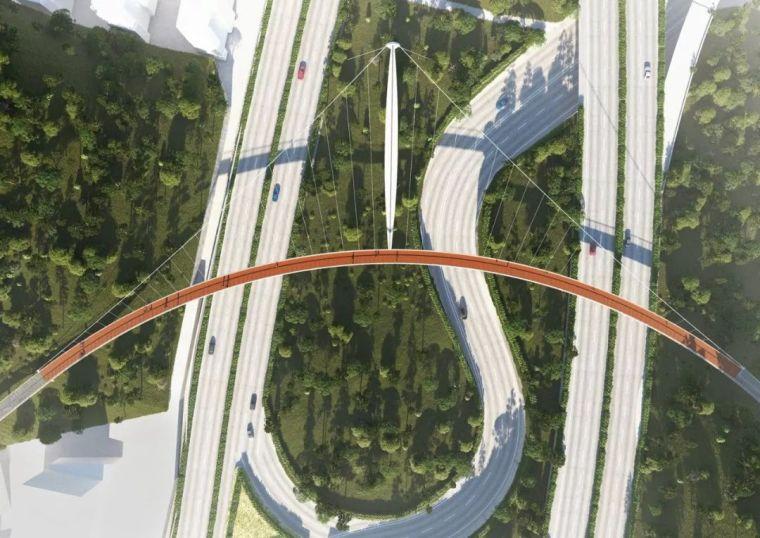 彩色路面在人行天桥上的应用-厦门人行道
