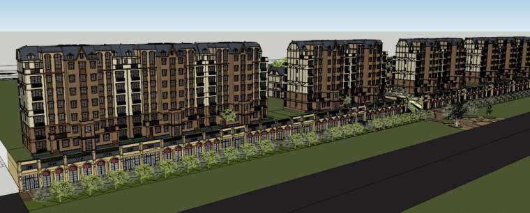 [山东]青岛银盛泰·德郡德式洋房+联排别墅建筑模型设计