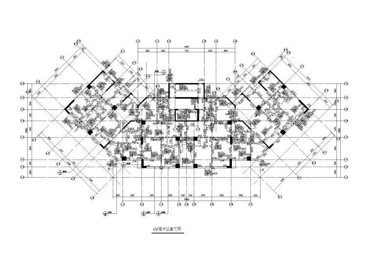 26层框剪结构生活大厦办公楼结构施工图2015