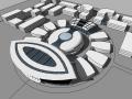 现代风格会展中心建筑模型设计