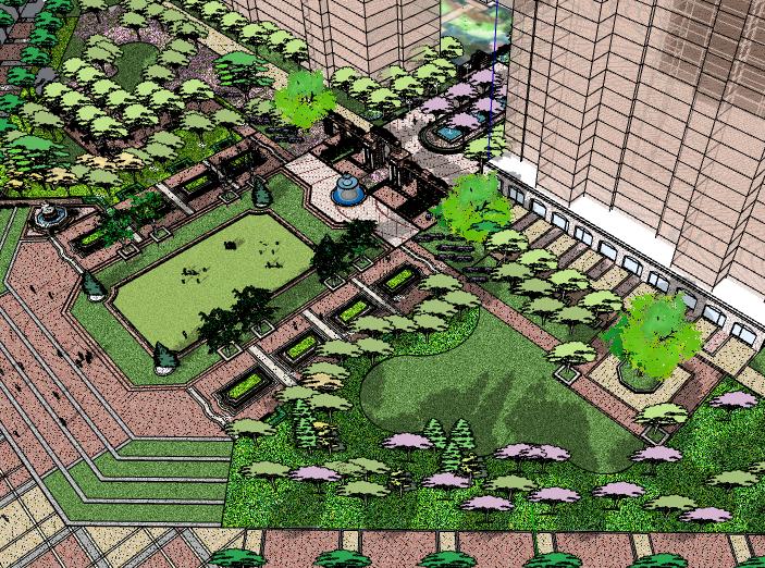 [武汉]万科住宅区景观模型设计