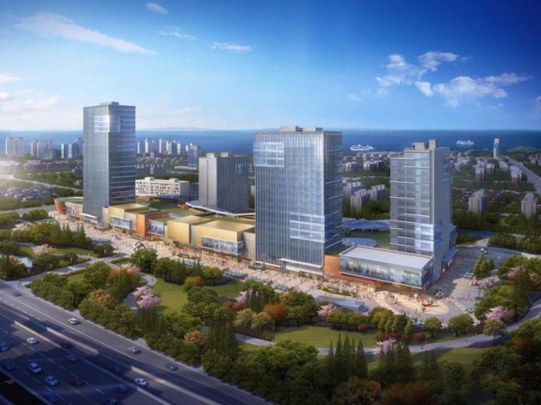 [上海]宝山宝杨宝龙广场商业综合体建筑模型设计(美国WR)