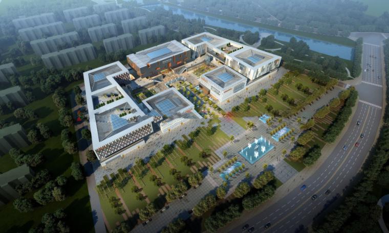 """[山东]蒙阴县""""六馆一中心""""文化综合体建设方案模型设计"""