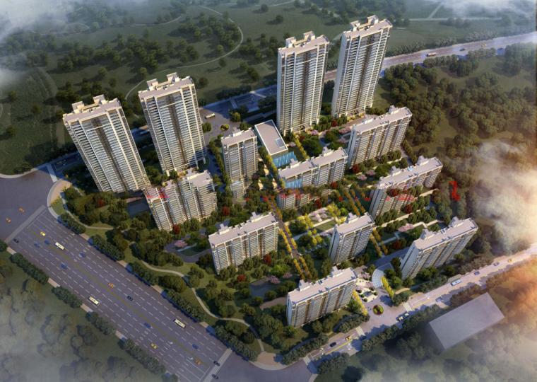[江苏]南通招商·雍华府(长江一号)新亚洲风格示范区+高层建筑模型设计