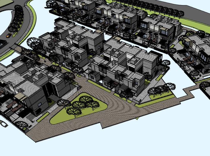 万科精品别墅方案建筑模型设计