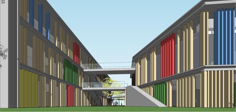 现代风格幼儿园建筑模型设计