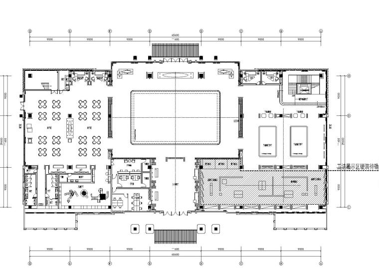 [安徽]宿州绿地城售楼中心室内装修CAD施工图+官方摄影