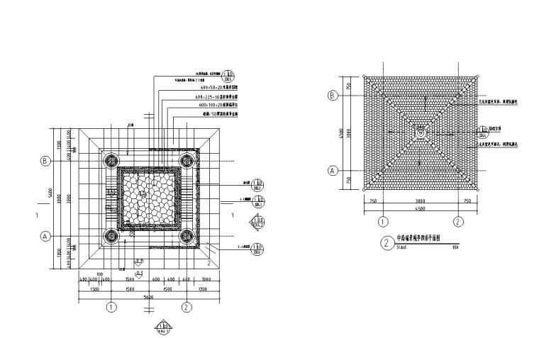 景观细部施工|中高端景观亭四施工图(含园建、结构、电气)