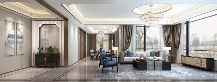 [济南]黄志达-济南泰禾平层+南合院别墅样板间丨效果图+深化设计