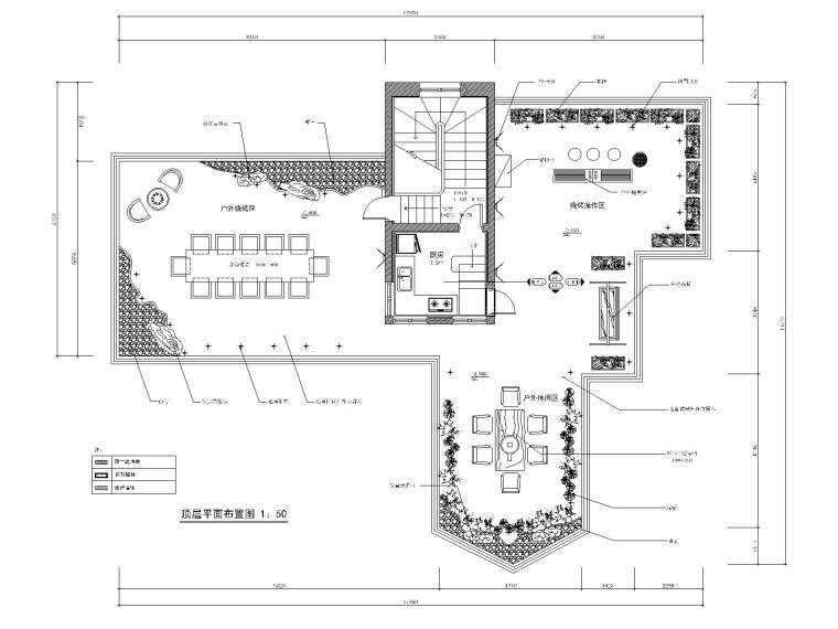 [河北]集美-沈钧儒故居-3三层别墅室内装修CAD施工图
