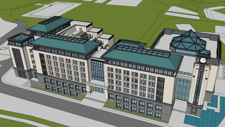 [湖北]武汉大学小米楼建筑模型设计(2018年)