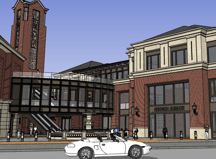 中式仿古街建筑设计模型