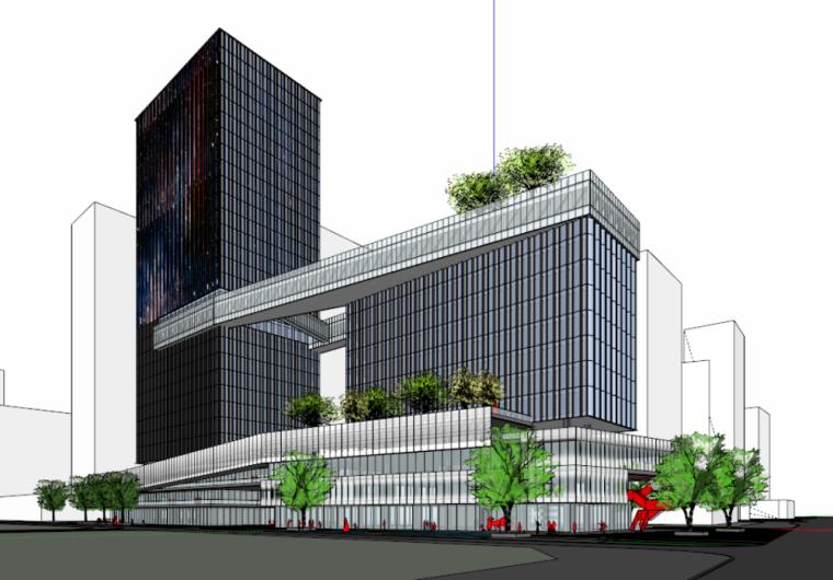 [广东]深圳创维前海国际总部工程项目投标模型设计(现代风格)