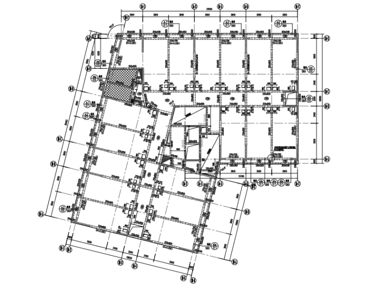 [深圳]商业+办公+住宅综合项目建筑结构图