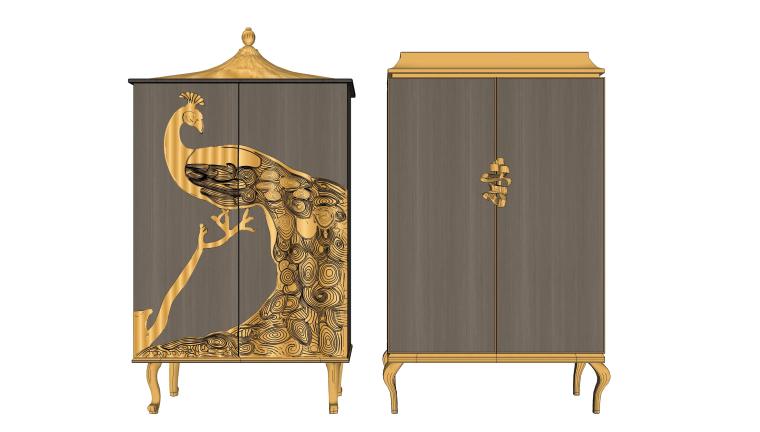 室内家装卧室工装酒店房间整体衣柜储物柜家具3d模型设计