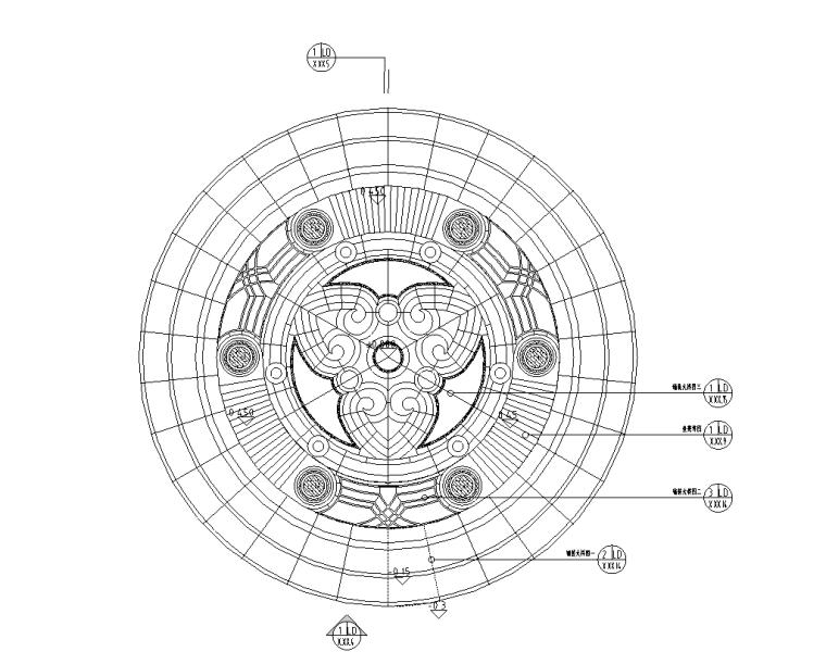 景观细部施工|高端景观亭三施工图设计(含园建、结构、电气)