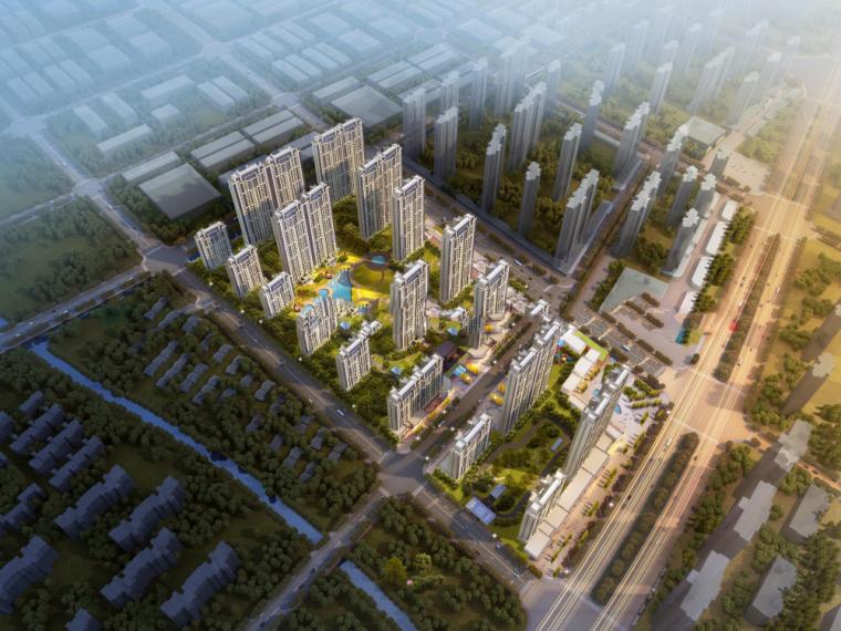 [江苏]无锡协信未来城住宅建筑模型设计(现代典雅风格)