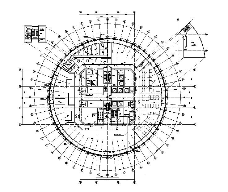 深圳华润大厦强弱电智能化消防施工图(601张完整、含人防、地下室)