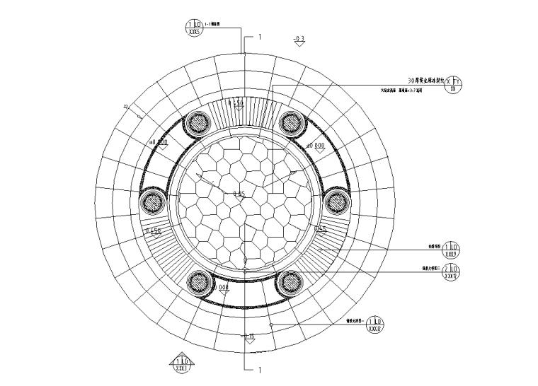 景观细部施工|中高端景观亭二施工图(含园建、结构、电气)