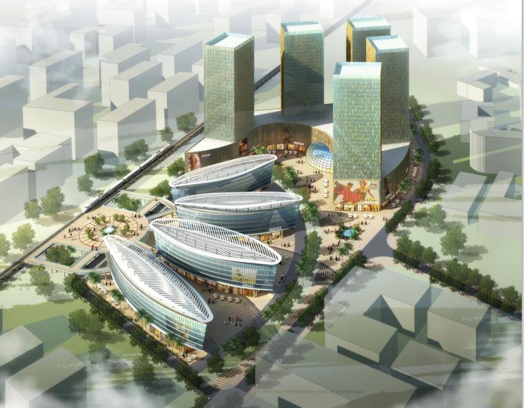 [云南]现代风格商业区概念性规划方案文本(JPG+43页)