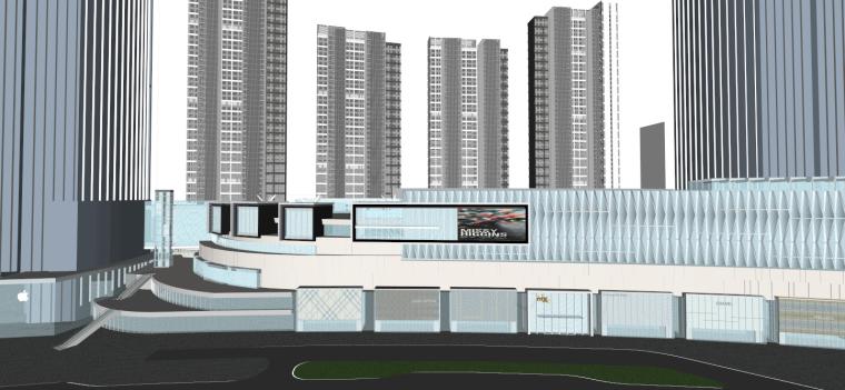 南宁万象城模型资料下载-[湖北]武汉华润中心万象城商业建筑模型设计
