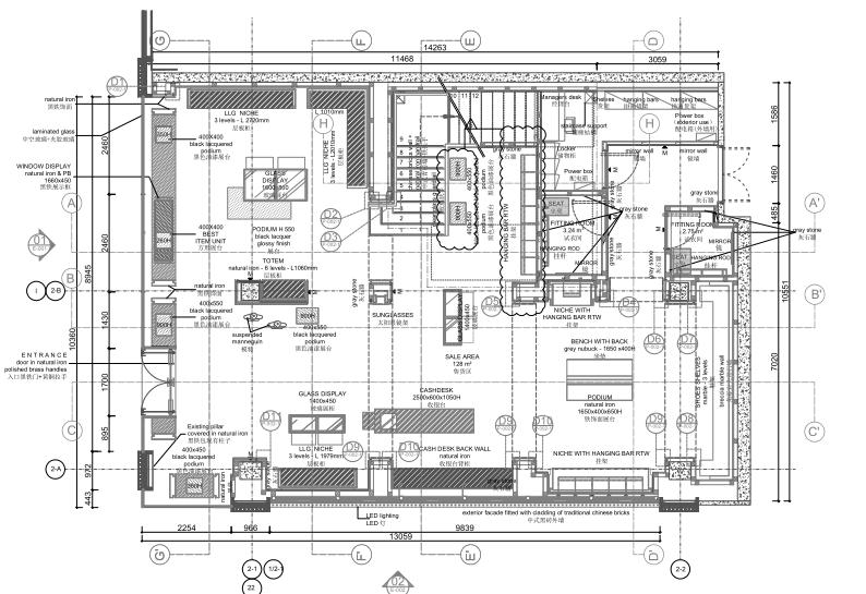 [成都]Givenchy纪梵希·成都太古里旗舰店竣工图CAD_PDF+官方摄影