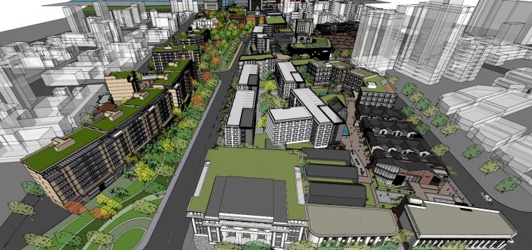[湖北]武汉华发青岛路片区商业改造概念规建筑模型设计(2018年)