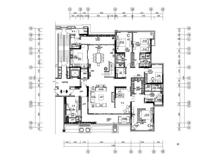 [广东]广州番禺香江A栋样板房丨CAD施工图
