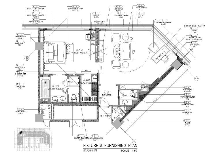 [广东]郑中-广州万达希尔顿酒店丨公区+客房CAD施工图