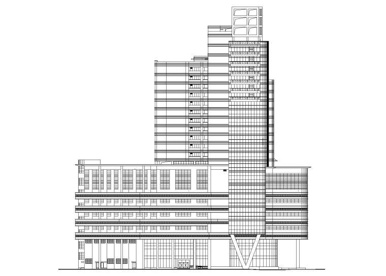 [广东]东莞某五星酒店建筑施工图(带节能说明)