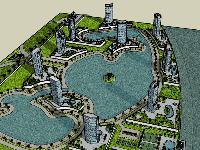 [海南]超高层住宅小区建筑模型设计