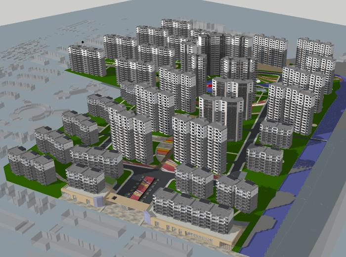 [天津]某住宅小区建筑模型设计