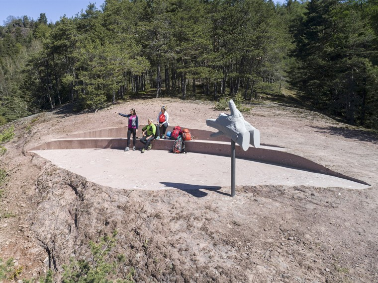 意大利岩层步道KNOTTNKINO³休息区景观