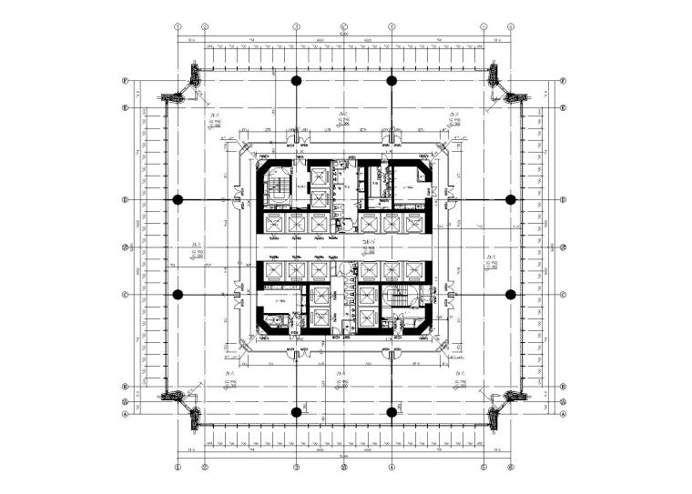 [广州]59层超高层框筒商业办公楼建筑结构施工图(2013)