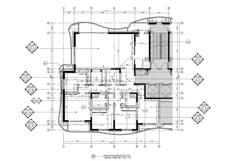 [上海]中信泰富九庐豪宅样板间深化方案47P+效果图+全套CAD施工图+物料表