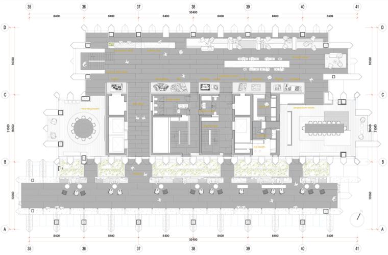 [上海]AIM恺慕-上海外滩SOHO顶层会所效果图+施工图PDF丨269P